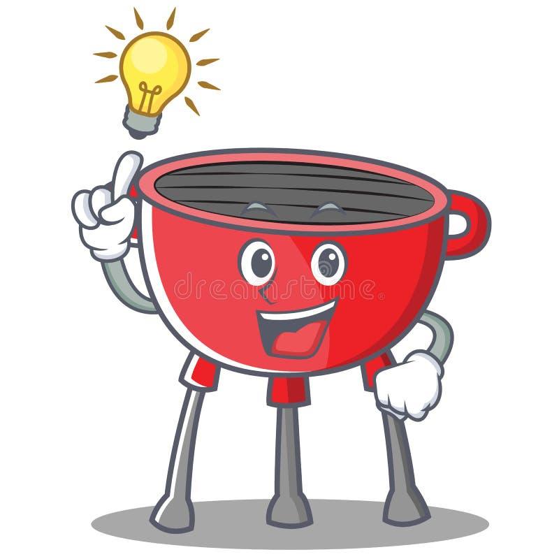 Pomysłu grilla grilla postać z kreskówki ilustracji
