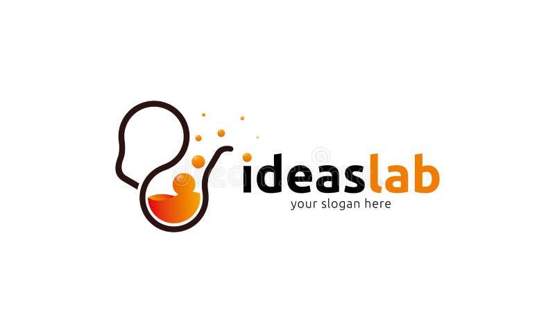 Pomysłu lab logo ilustracja wektor