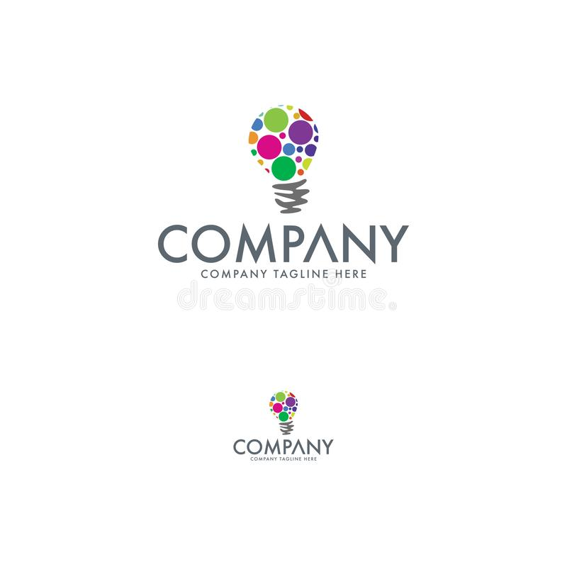 Pomysłu logo projekta szablon Firma loga element royalty ilustracja