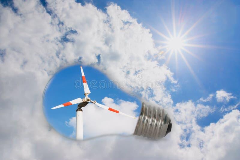 Pomysłu naturalny źródło energii fotografia stock