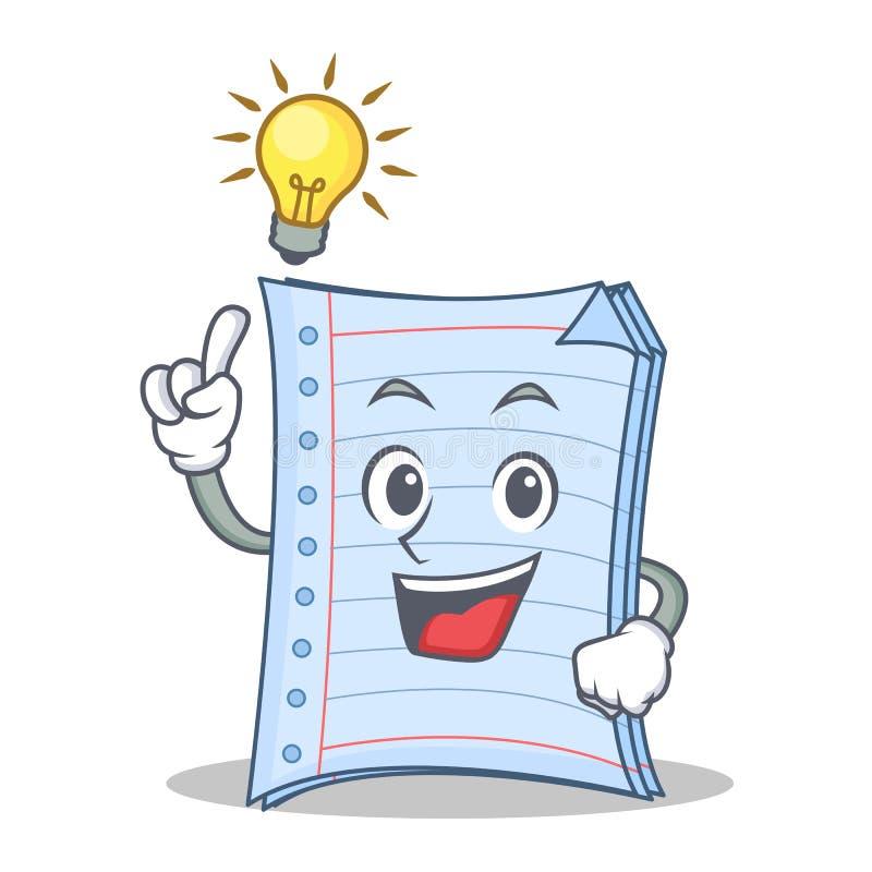 Pomysłu notatnika charakteru kreskówki projekt ilustracji