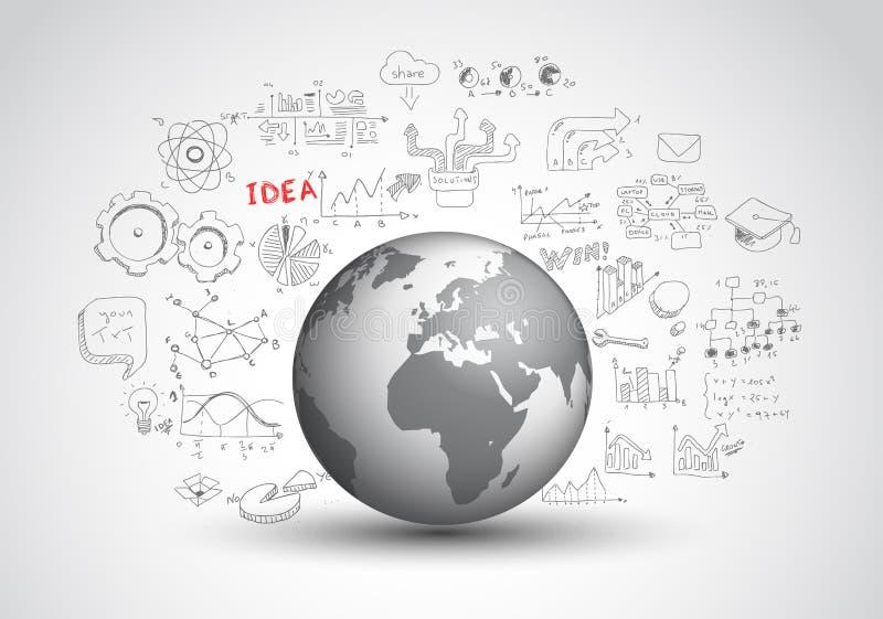 Pomysłu pojęcia układ dla Brainstorming i Infographic royalty ilustracja