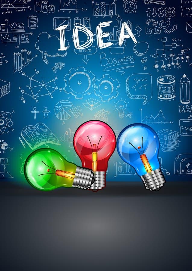 Pomysłu pojęcia układ dla Brainstorming i Infographic tła ilustracja wektor