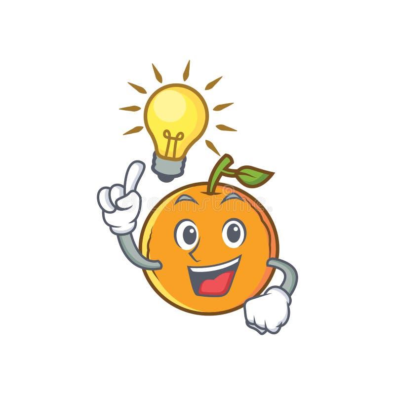 Pomysłu pomarańczowego owocowego postać z kreskówki royalty ilustracja