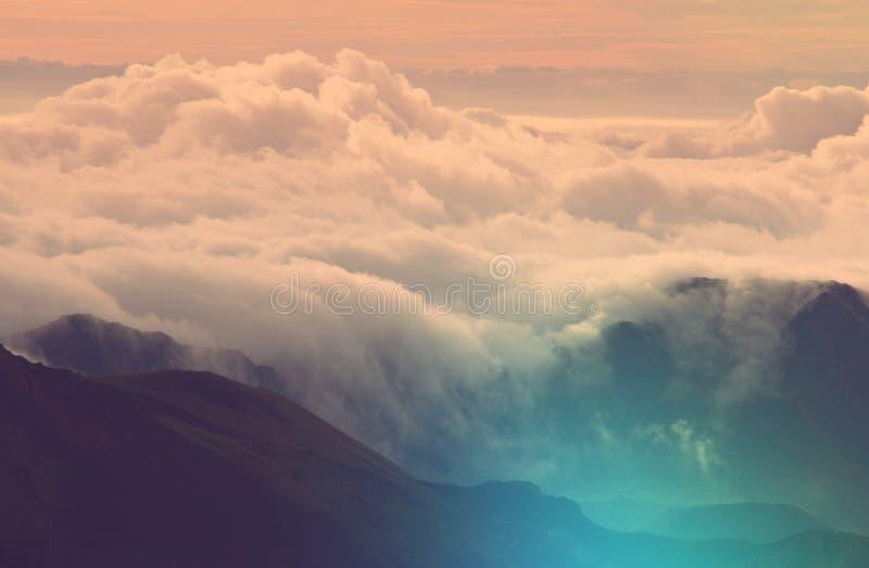 ponad chmurami zdjęcie stock