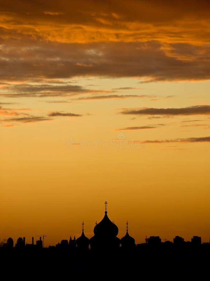 ponad moscow słońca zdjęcie royalty free
