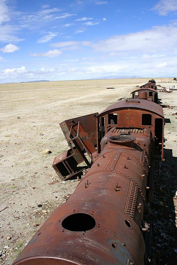 ponad rdzewiejący pociąg zdjęcie stock