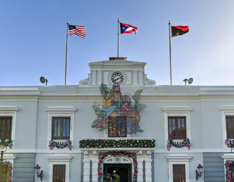 Ponce香港大会堂-波多黎各 图库摄影