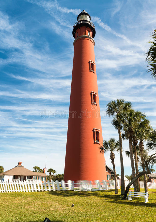 Ponce de Leon φάρος, Daytona Beach, Φλώριδα στοκ φωτογραφίες