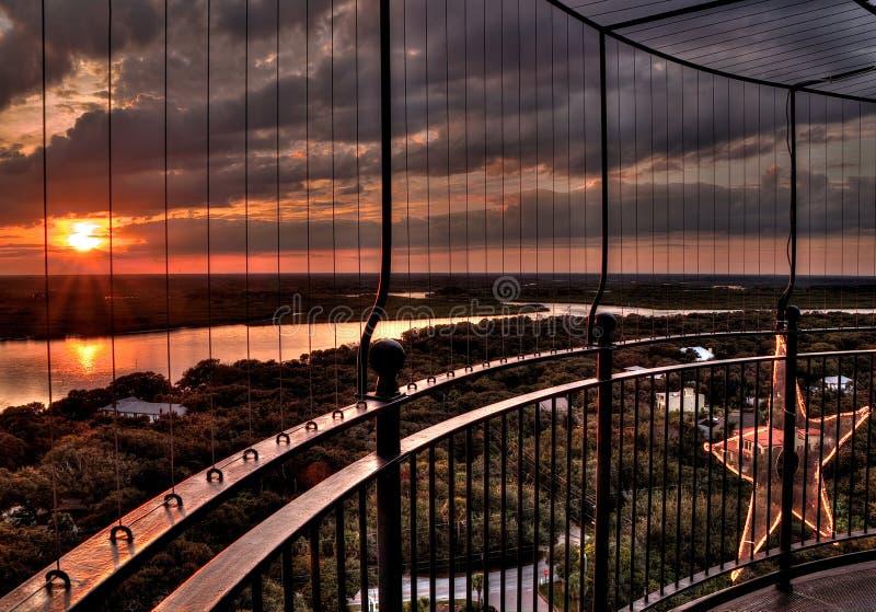 Ponce DE Leon Lighthouse Park tijdens de Winter royalty-vrije stock afbeeldingen