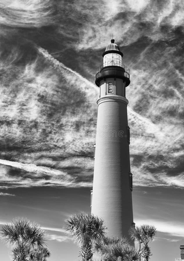 Ponce DE Leon vuurtoren, Daytona Beach, Florida royalty-vrije stock foto's