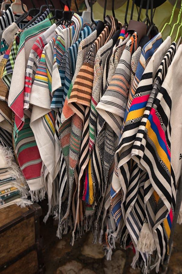 Ponchos colombianos fotografía de archivo libre de regalías
