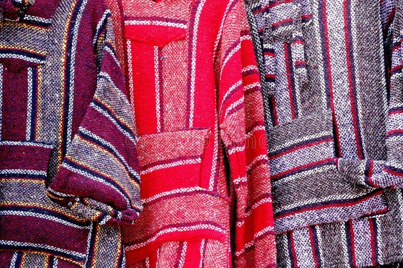 Ponchos de México imagens de stock
