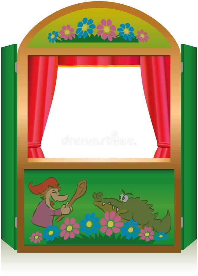 Poncz I Judy budka ilustracja wektor