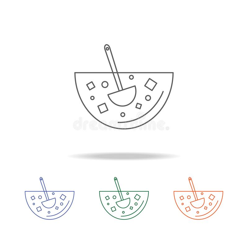 Poncz ikona Element partyjna wielo- barwiona ikona dla mobilnych pojęcia i sieci apps Cienka kreskowa ikona dla strony internetow royalty ilustracja