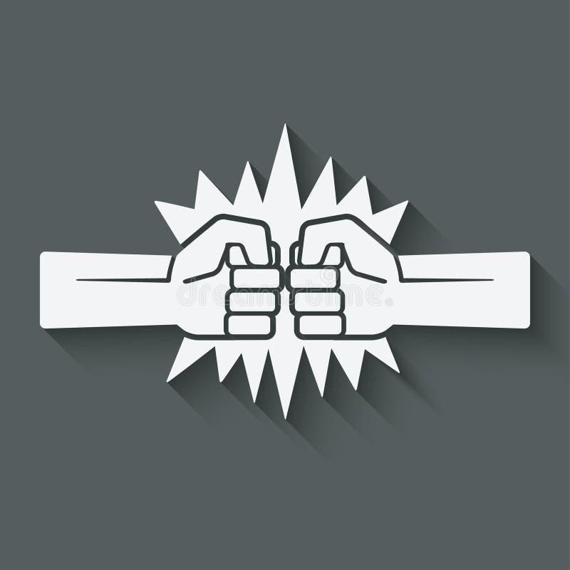 Poncz pięści walki symbol royalty ilustracja
