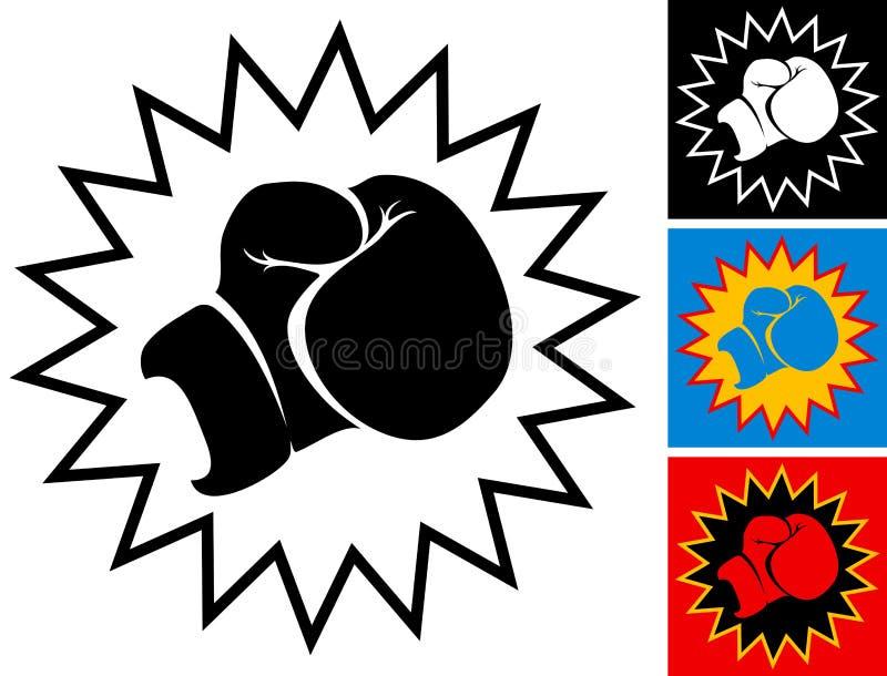 Poncz w bokserskiej rękawiczce ilustracji