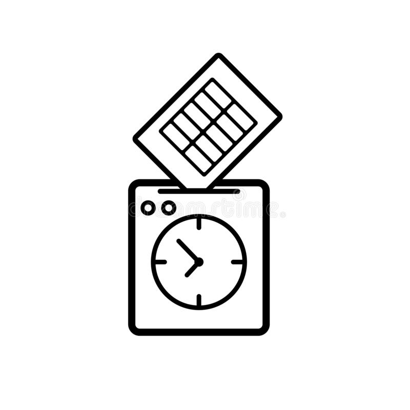Poncz zegarowa ikona ilustracja wektor
