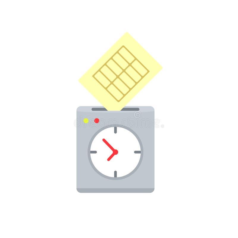 Poncz zegarowa ikona ilustracji