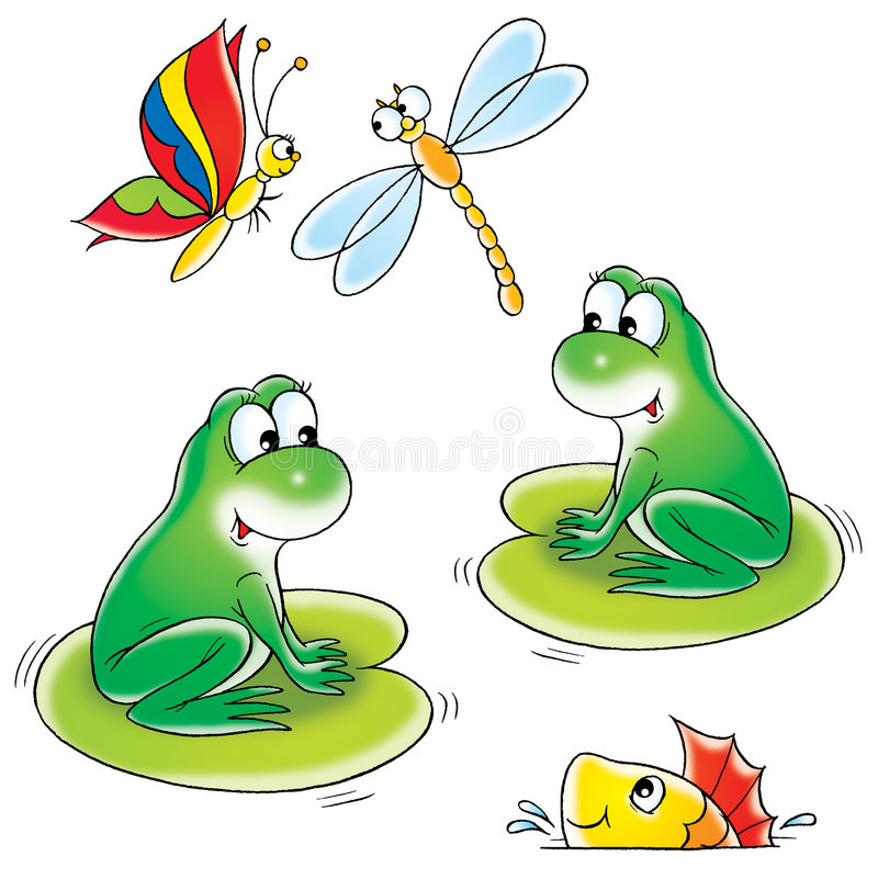 Download Pond stock vector. Image of amphibian, cartoon, card, clip - 2029560