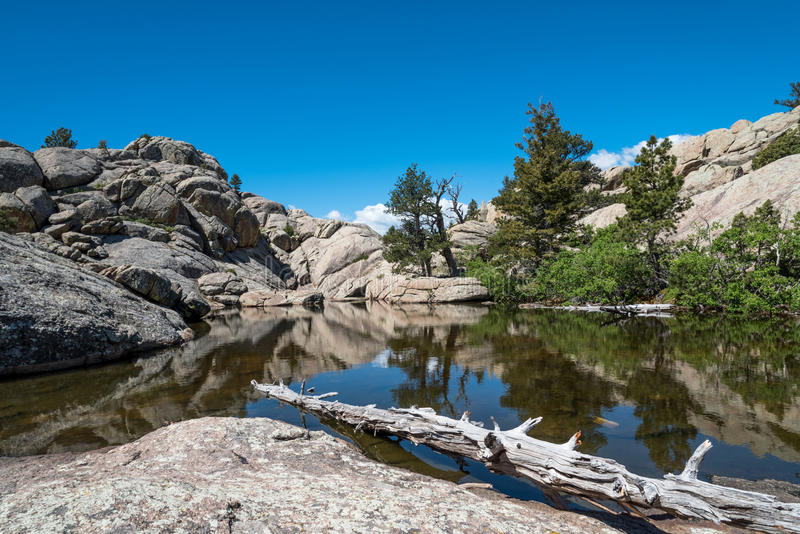 The Pond Below Greyrock`s Summit stock images