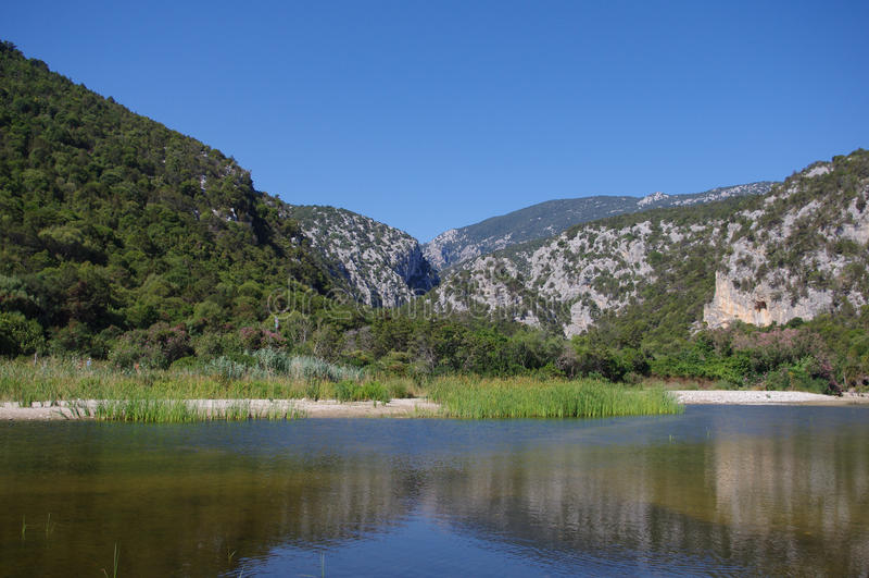 Pond Cala Luna. Sardinia royalty free stock photos