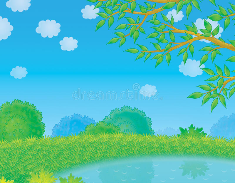 Pond In Countryside Stock Image