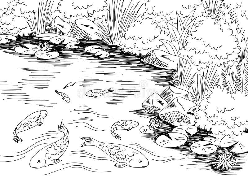 Pond Black White Stock Illustrations 3 892 Pond Black White Stock Illustrations Vectors Clipart Dreamstime
