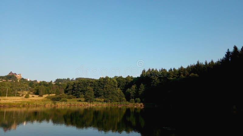 Pond n the Lipnice under Sazava stock photography
