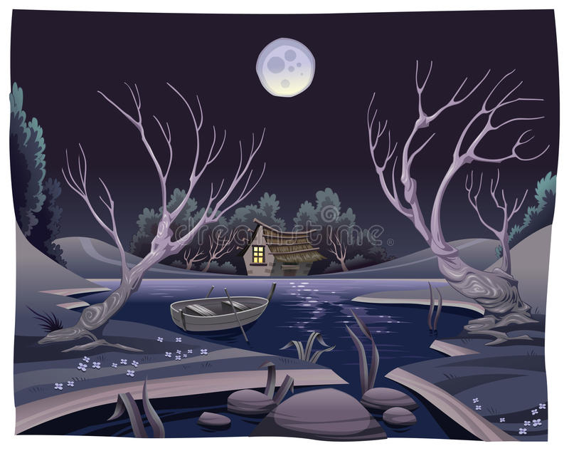 Pond In The Night. Stock Image