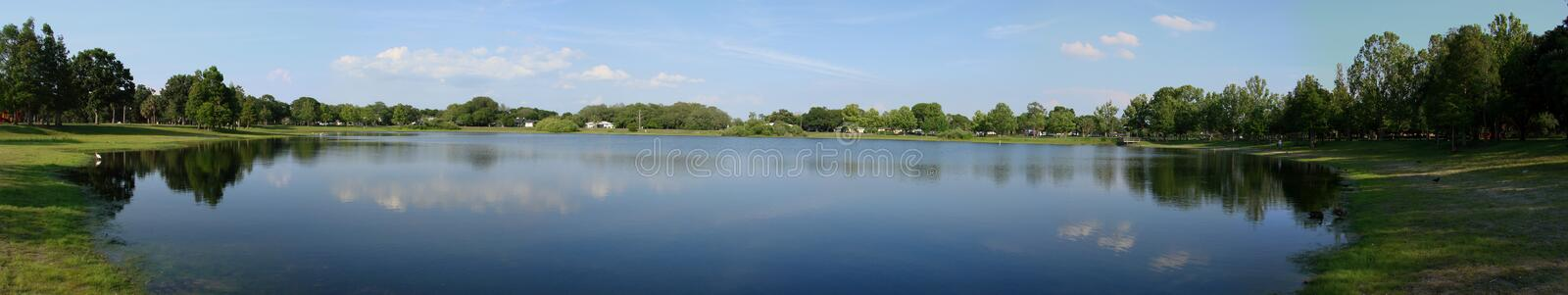 Download Pond panorama, Florida stock image. Image of horizontal - 2619785