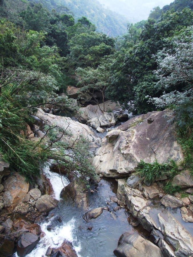 Pond after the Rawana Ella falls. Calm pond after the Rawana Ella waterfall, Ella village, Sri Lanka stock photo