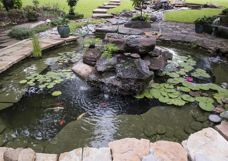 Small Fish Pond And Waterfall Stock Image Image Of Landscape Park 100873917,Diy Painted Flower Pots Designs For Painting Drawing