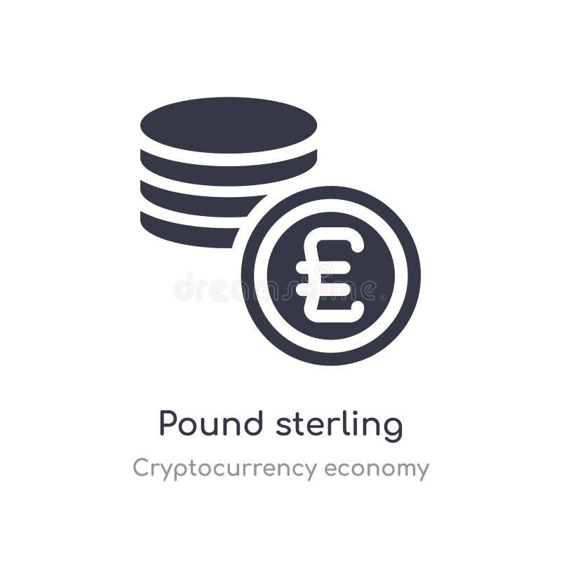 Pond Sterlingpictogram de geïsoleerde vectorillustratie van het pond Sterlingpictogram van de inzameling van de cryptocurrencyeco royalty-vrije illustratie
