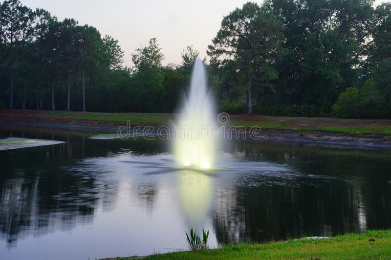 A pond in Tampa palms community stock images