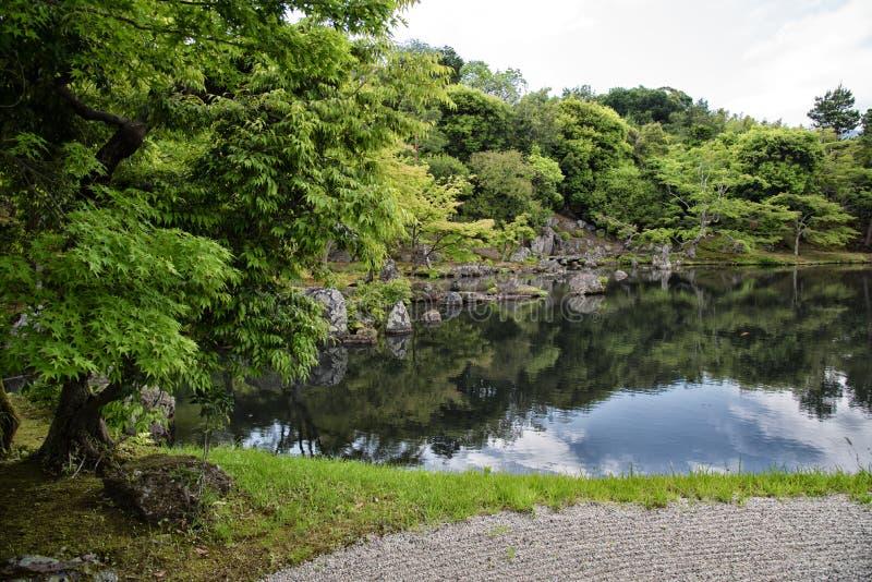 Pond of the Tenryu-ji temple, Kyoto, Japan. Pond of the Tenryu-ji temple, Arashiyama, Kyoto, Japan royalty free stock photos