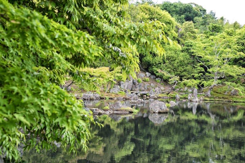 Pond of the Tenryu-ji temple, Kyoto, Japan. Pond of the Tenryu-ji temple, Arashiyama, Kyoto, Japan stock photos
