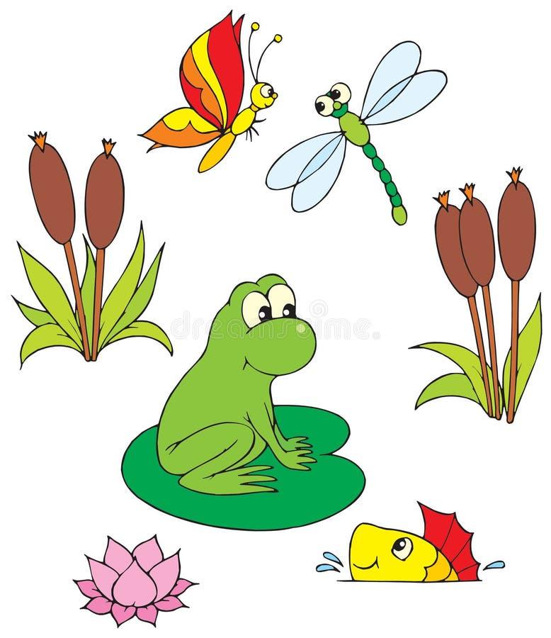 pond vector clip art stock vector illustration of hand 3279798 rh dreamstime com clip art pontoon boat clip art pontoon