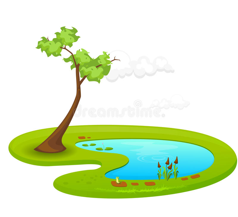 Pond stock illustration