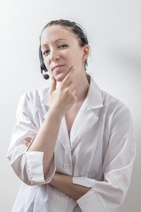 Pondering doctor stock photos