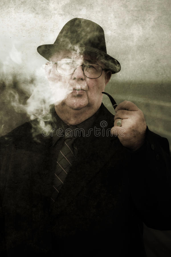 Download Pondering Private Eye stock photo. Image of crime, gent - 24639890