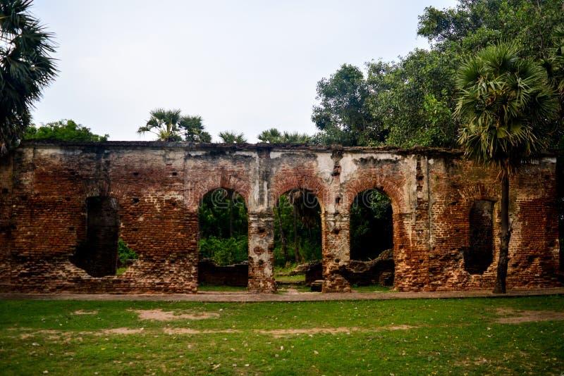 Pondicherry, Índia - 30 de setembro de 2017: Vila de Arikamedu em Pondicherry, Índia imagem de stock royalty free