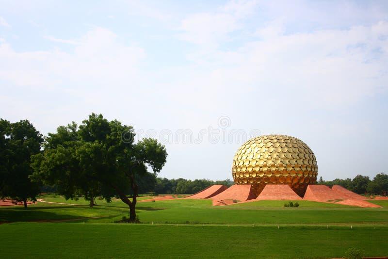 Pondicherry Aurovillematrimandir Arkivbilder