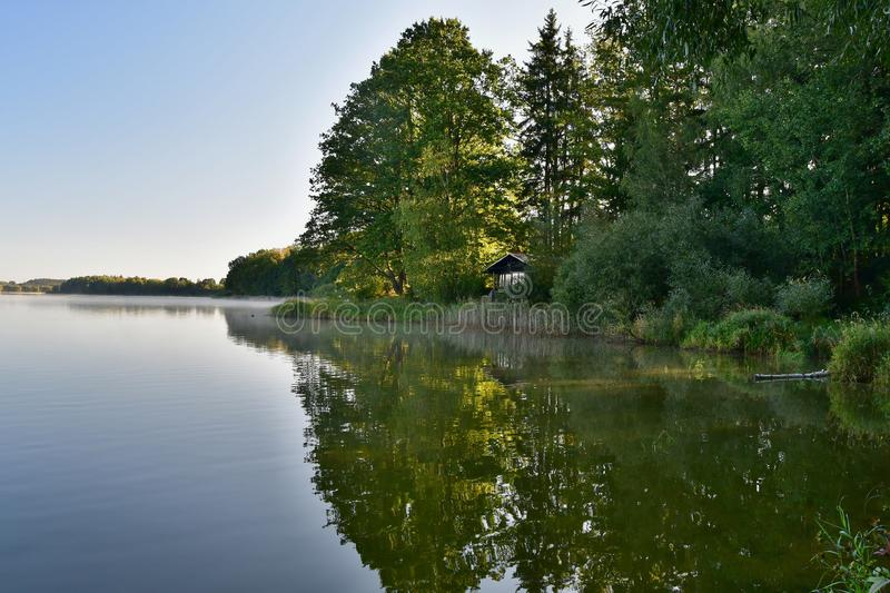 Ponds in the countryside, Kaclezsky Pond of South Bohemia stock photos