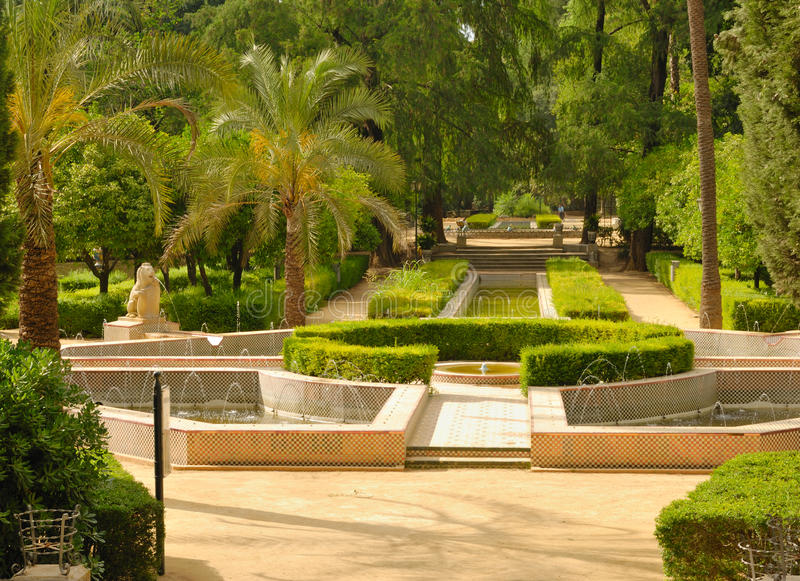 Ponds park. Ponds in Maria Luisa Park, located in Seville (Spain). It is the public garden or park of the city's most famous and one of its green lungs. Recently royalty free stock image