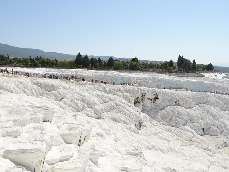 Pamukkale 2017, September. The world heritage site of UNESCO. stock photography