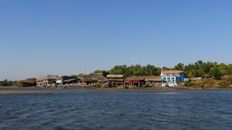 Poneloya,尼加拉瓜 免版税库存照片