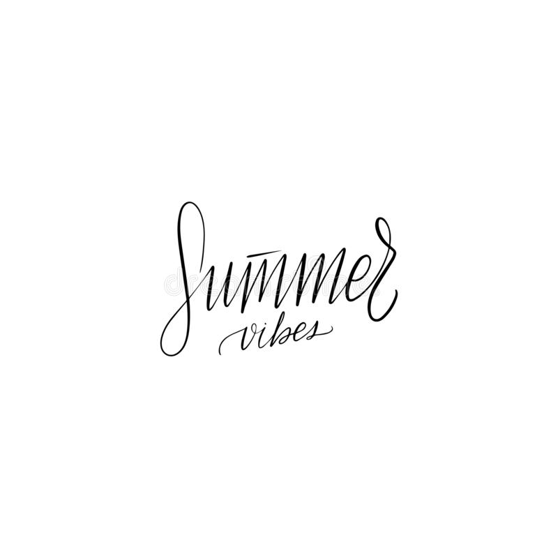 Poner letras a ambientes del verano libre illustration