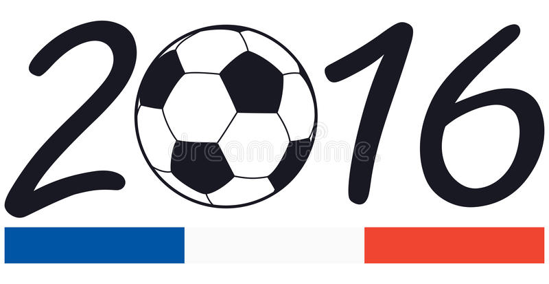 poner letras a 2016 con colores del nacional de Francia ilustración del vector