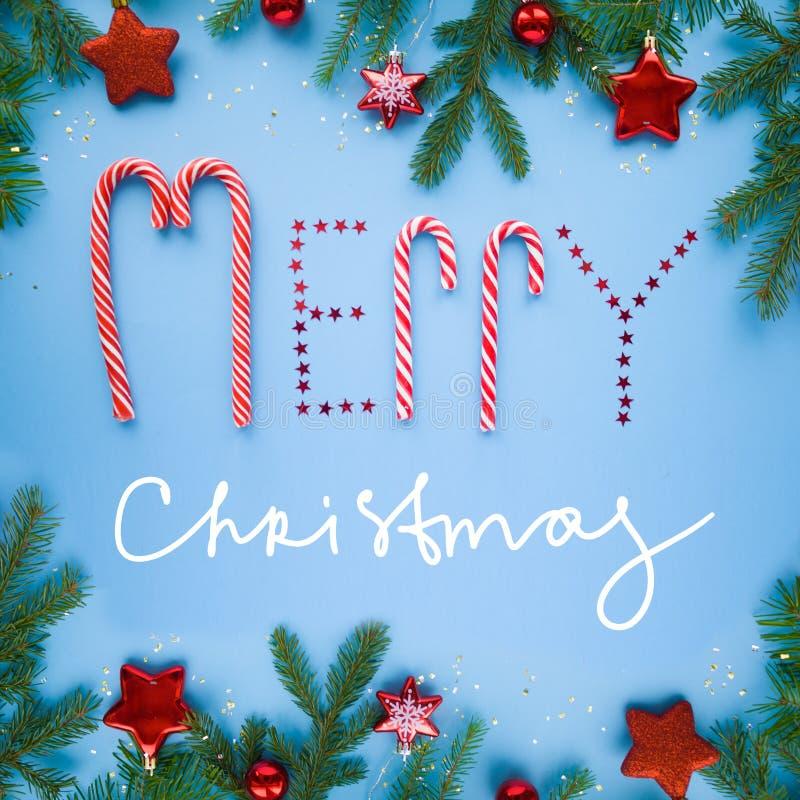 Poner letras a Feliz Navidad imagen de archivo